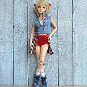 Куклы и игрушки ручной работы. Ярмарка Мастеров - ручная работа Одежда для кукол БЖД Комплекты в стиле Деним Реалистичная одежда. Handmade.