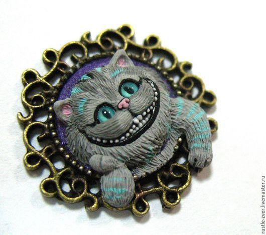 Кулоны, подвески ручной работы. Ярмарка Мастеров - ручная работа. Купить Кулон Чеширский кот. Handmade. Серый, подарок
