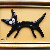 """Картины ручной работы. Ярмарка Мастеров - ручная работа Коллаж """"Кот"""". Handmade."""
