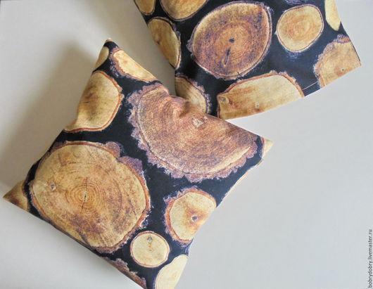 Текстиль, ковры ручной работы. Ярмарка Мастеров - ручная работа. Купить Деревянные подушки интерьерные. Handmade. Коричневый, подушка-игрушка