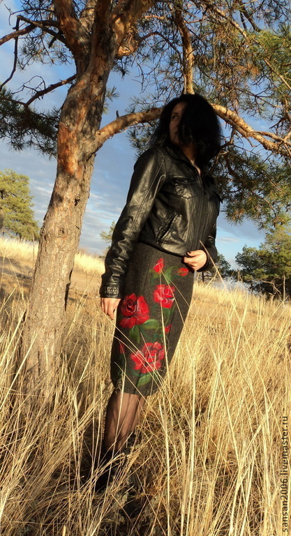"""Юбки ручной работы. Ярмарка Мастеров - ручная работа. Купить юбка """"Розы"""". Handmade. Теплая юбка, цветочный"""