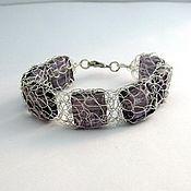 "Украшения handmade. Livemaster - original item Bracelet chain wire with beads ""networks"". Handmade."