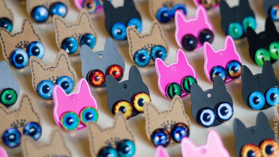 Стеклянные глаза для игрушек