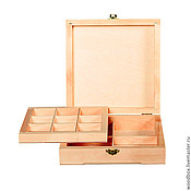 Материалы для творчества handmade. Livemaster - original item 22228DD Box with a double bottom and cells cm22 cm22 8 cm.. Handmade.