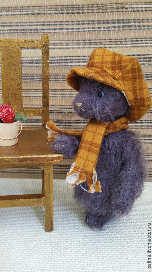 Мишки Тедди ручной работы. Ярмарка Мастеров - ручная работа. Купить Медвежонок Фил. Handmade. Сиреневый, стеклянный гранулят