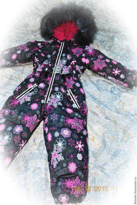 """Одежда для девочек, ручной работы. Ярмарка Мастеров - ручная работа. Купить Зимний/демисезонный мембранный комбинезон """"Зима"""". Handmade. Черный, фурнитура"""