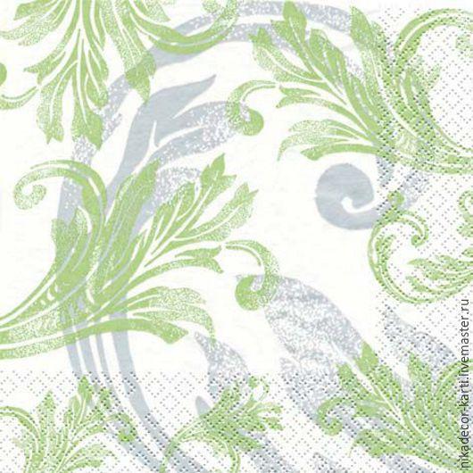 Декупаж и роспись ручной работы. Ярмарка Мастеров - ручная работа. Купить Классический зеленый орнамент (211163) - салфетка для декупажа. Handmade.