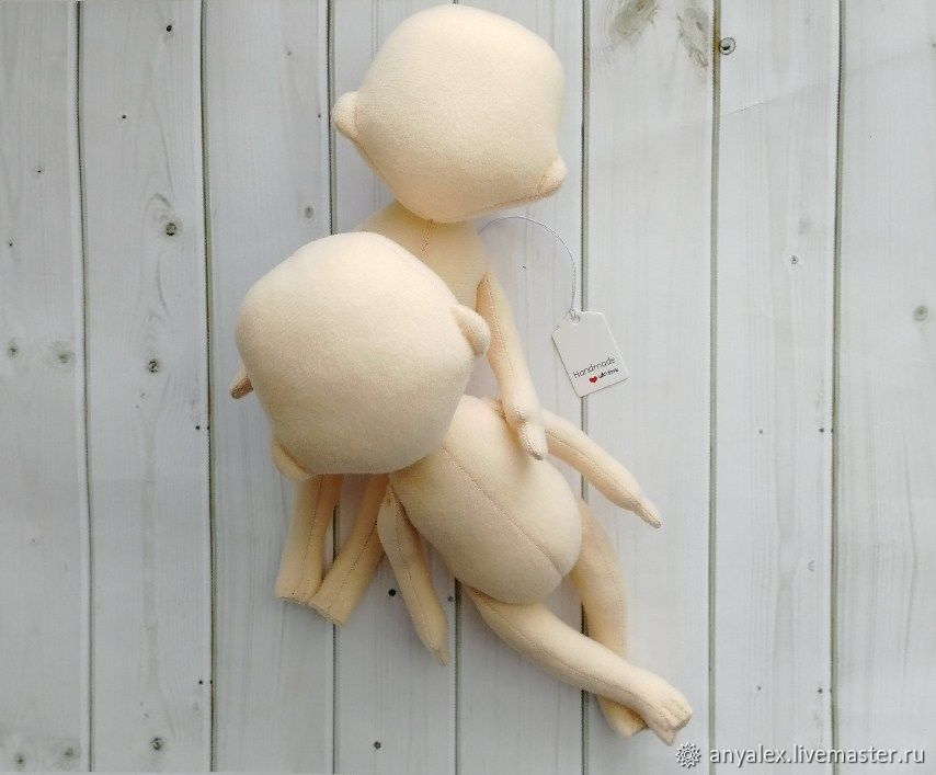 Blank doll 19 cm (7,48'), empty doll, Blanks for dolls and toys, Achinsk,  Фото №1