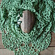 Шали, палантины ручной работы. Ярмарка Мастеров - ручная работа. Купить Японская шаль из мотивов. Хлопок. Handmade. Зеленый