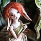Коллекционные куклы ручной работы. Ярмарка Мастеров - ручная работа. Купить Лесная зайка Элли авторская шарнирная кукла молда Rio (BJD). Handmade.