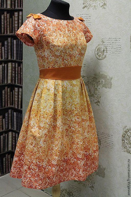 """Платье в стиле 60-х """"Эдемский сад"""", Платья, Москва,  Фото №1"""