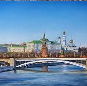 Кремль. Вид с мостом. 50х70см +рама