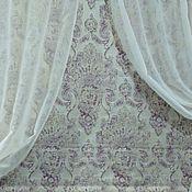 Для дома и интерьера ручной работы. Ярмарка Мастеров - ручная работа Римская штора и тюль в гостиную. Handmade.