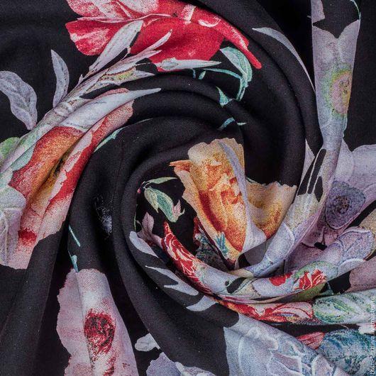 Шитье ручной работы. Ярмарка Мастеров - ручная работа. Купить Штапель вискозный, арт. 25224. Handmade. Комбинированный, штапель с цветами