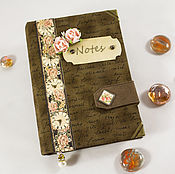 "Канцелярские товары handmade. Livemaster - original item Блокнот ""Шоколад и розы"". Handmade."