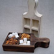 """Для дома и интерьера ручной работы. Ярмарка Мастеров - ручная работа Сахарница деревянная """"Прованс"""". Конфетница сухарница. Посуда шебби шик. Handmade."""