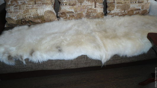 Текстиль, ковры ручной работы. Ярмарка Мастеров - ручная работа. Купить Меховой плед (ковер, покрывало). Handmade. Меховой ковер