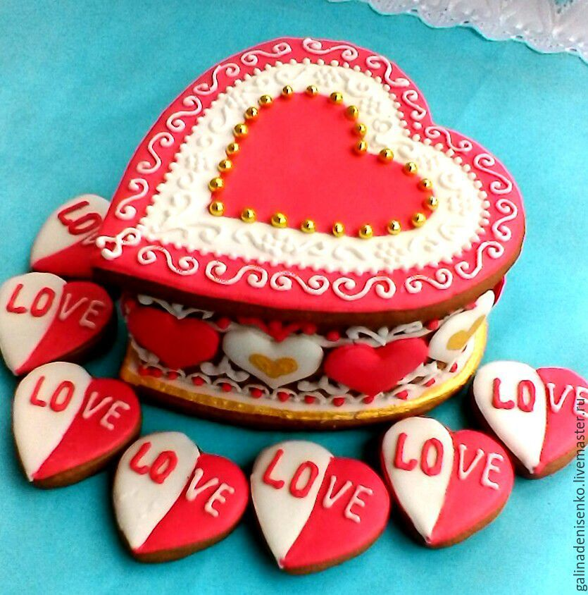 Gingerbread box Heart. Set for gingerbread lovers, Gingerbread Cookies Set, Rostov-on-Don,  Фото №1