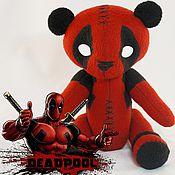 Куклы и игрушки ручной работы. Ярмарка Мастеров - ручная работа Мишка Deadpool. Handmade.