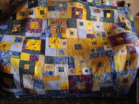 """Текстиль, ковры ручной работы. Ярмарка Мастеров - ручная работа. Купить Лоскутное покрывало """"Прогулка с Климтом"""". Handmade. Лоскутное покрывало"""