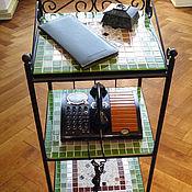 Для дома и интерьера handmade. Livemaster - original item Bookcase with mosaic shelves. Handmade.
