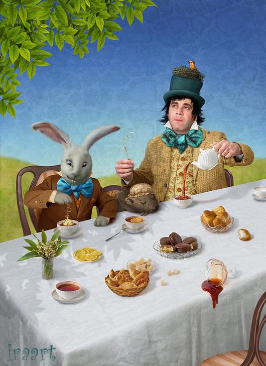 """Фотокартины ручной работы. Ярмарка Мастеров - ручная работа. Купить Фотосказка """"Алиса в стране чудес. Безумное чаепитие"""". Handmade. Шляпник"""