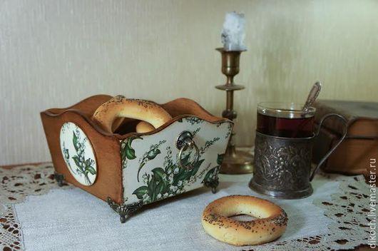 """Кухня ручной работы. Ярмарка Мастеров - ручная работа. Купить Конфетница - сухарница  """"Ландыши"""" - 1. Handmade. Ландыши, подарок женщине"""