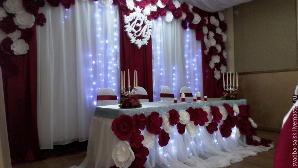 Видео украшения свадебного зала
