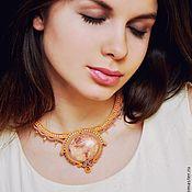 Украшения handmade. Livemaster - original item Soutache necklace `The Sands of time` orange rose. Handmade.