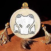 Фен-шуй и эзотерика ручной работы. Ярмарка Мастеров - ручная работа Шаманский бубен оберег Медведь. Handmade.