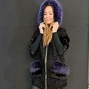 Одежда handmade. Livemaster - original item Parka made of Astrakhan fur and blackglama. Handmade.