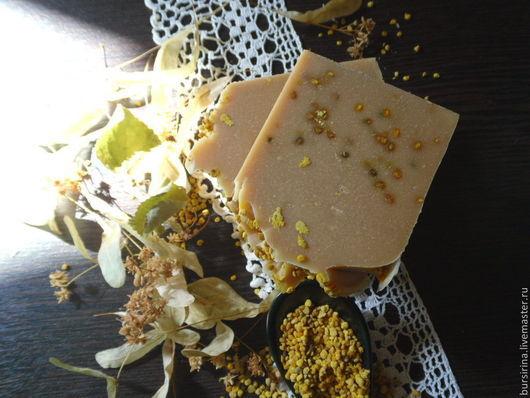 Мыло ручной работы. Ярмарка Мастеров - ручная работа. Купить МЕДОВАЯ ЛИПА натуральное мыло с липовым мёдом и цветочной пыльцой. Handmade.