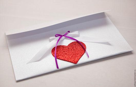Валентинки ручной работы. Ярмарка Мастеров - ручная работа. Купить любовь. Handmade. Бумага для открыток, лента декоративная, белый