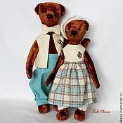 Куклы и игрушки ручной работы. Ярмарка Мастеров - ручная работа Мишки Тэдди Варенька и Веня. Handmade.