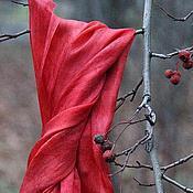 Аксессуары ручной работы. Ярмарка Мастеров - ручная работа Шелковый палантин  Страсть шелковый шарф. Handmade.
