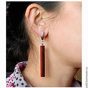 Украшения handmade. Livemaster - original item Long rectangular earrings.. Handmade.