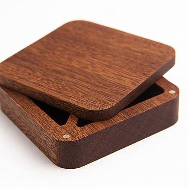 Souvenirs and gifts handmade. Livemaster - original item Rustic wedding ring box. Handmade.