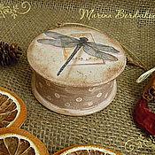 """Для дома и интерьера ручной работы. Ярмарка Мастеров - ручная работа """"Стрекоза"""" - бонбоньерка. Handmade."""