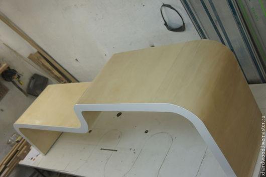 Мебель ручной работы. Ярмарка Мастеров - ручная работа. Купить гнутые стол+полка. Handmade. Бежевый, фанера