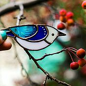 Украшения ручной работы. Ярмарка Мастеров - ручная работа Брошь птица цветное стекло, брошка витраж, украшение подарок девушке. Handmade.