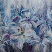 Картины и панно ручной работы. Ярмарка Мастеров - ручная работа Серебряные лилии. Handmade.