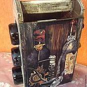 """Для дома и интерьера ручной работы. Ярмарка Мастеров - ручная работа Мини-бар """"Винный погребок"""". Handmade."""