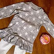 """Работы для детей, ручной работы. Ярмарка Мастеров - ручная работа Платье-туника """"звезды"""". Handmade."""