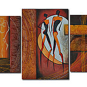 """Картины и панно ручной работы. Ярмарка Мастеров - ручная работа Картина маслом """"Люди Пикассо"""". Handmade."""