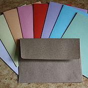 Сувениры и подарки handmade. Livemaster - original item Kraft envelopes, colored. Handmade.
