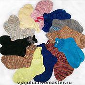 Работы для детей, ручной работы. Ярмарка Мастеров - ручная работа носочки детские из ангорки. Handmade.