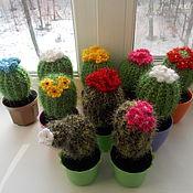 """Материалы для творчества ручной работы. Ярмарка Мастеров - ручная работа Игольницы  """"цветущие кактусы"""" большие. Handmade."""