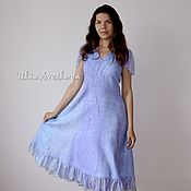 Одежда handmade. Livemaster - original item Summer felted silk dress