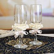 """Свадебный салон ручной работы. Ярмарка Мастеров - ручная работа Свадебные бокалы """"Самый лучший день"""". Handmade."""