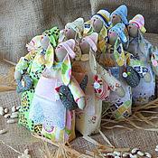 Куклы и игрушки ручной работы. Ярмарка Мастеров - ручная работа Зайцы - неразлучники. Игрушка текстильная. Handmade.